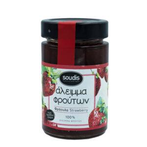 Άλειμμα Φρούτων Φράουλα 100% Χωρίς Ζάχαρη 230γρ