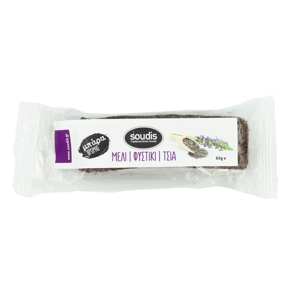 Μπάρα Δημητριακών Τσία-Μέλι-Φυστίκι 60γρ