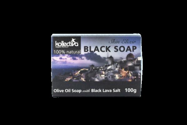Kollectiva Aγνό Σαπούνι Eλαιόλαδου με Mαύρο Aλάτι Λάβας 100γρ